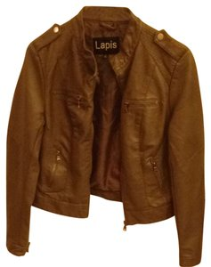 Lapis Leather Leather Cute Style Gray Jacket