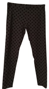 Hue heather grey flocked dots Leggings