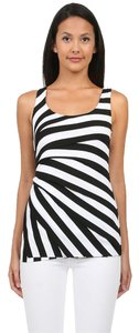 Bailey 44 Sunshine Striped Sleeveless Tiered Top Black