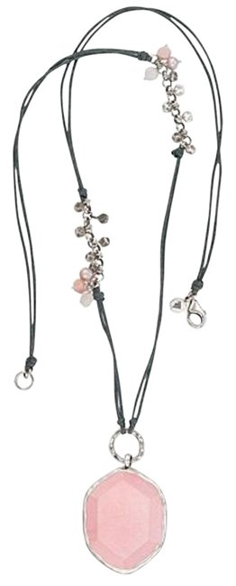 Item - Pink N2190 Soapstone Sterling Silver Necklace
