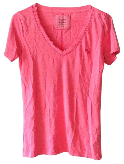 Abercrombie fitch t shirt pink for Abercrombie and fitch t shirts online shopping