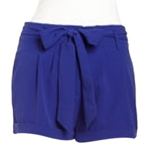 Romeo & Juliet Couture Tie Short Flowy Dress Shorts royal blue