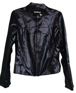 Unknown Leather Snakeskin Pleather Motorcycle Jacket