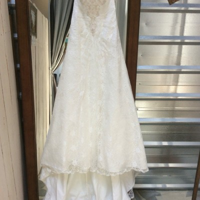 David 39 s bridal wg9821 wedding dress on sale 75 off for Wedding dress resale st louis