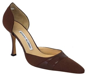 Manolo Blahnik Brown Mules