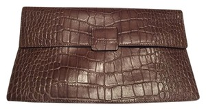 Danier Grayish-Brown or Mushroom Clutch