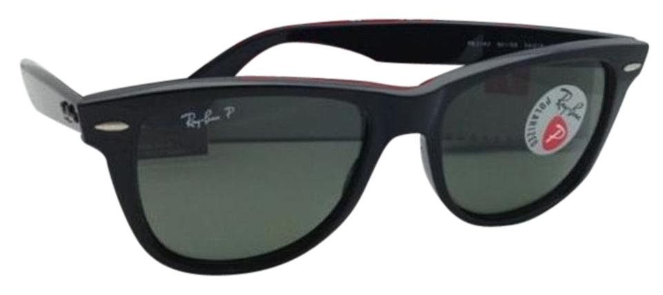 6d5a562950 Ray-Ban Polarized RAY-BAN Sunglasses WAYFARER RB 2140 901 58 54 Black ...