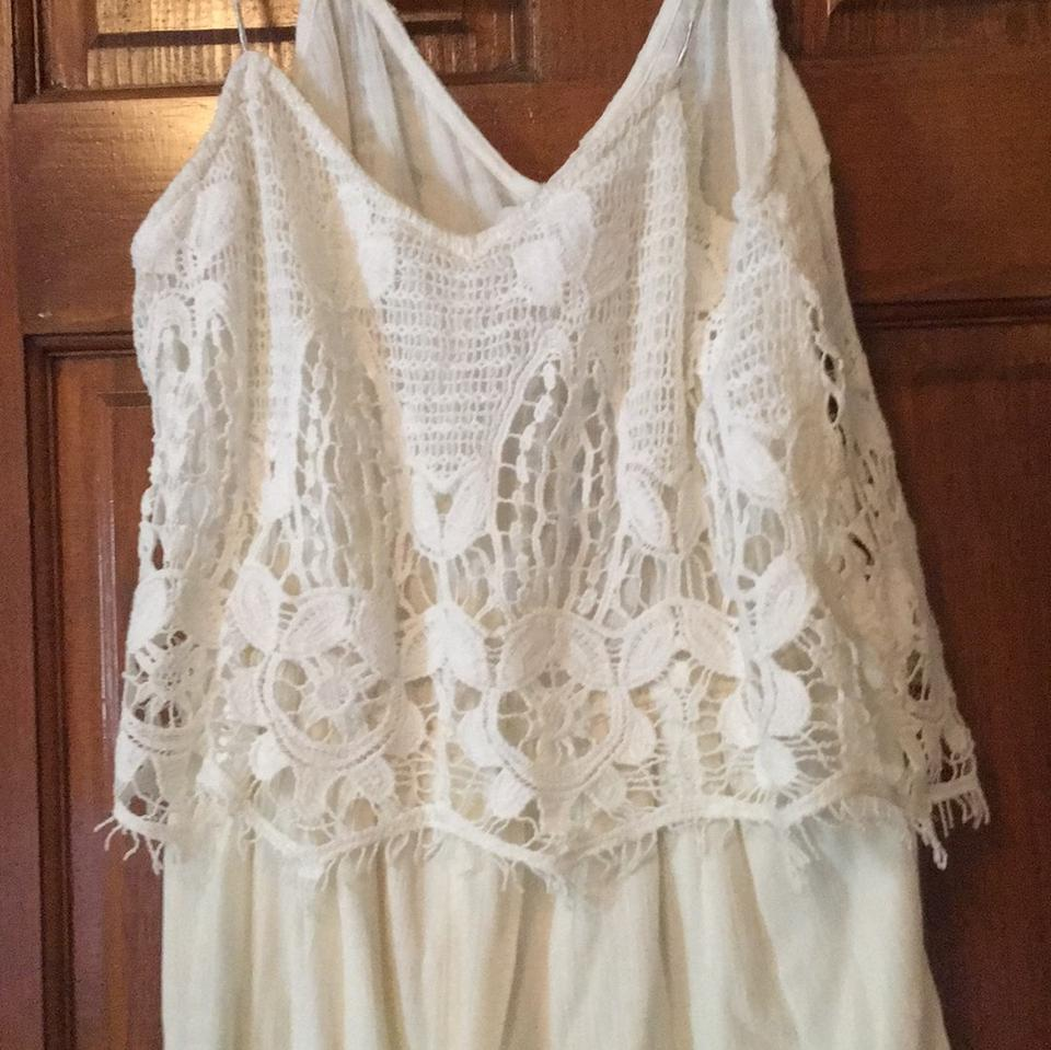 a9bb019c0a6 American Eagle Outfitters Creme Romper Jumpsuit - Tradesy