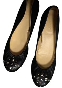 J.Crew black leather Flats