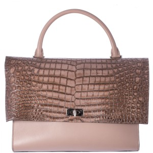 Givenchy Shark Medium Shark Shark Embossed Crocodile Tote in Beige NWT Givenchy