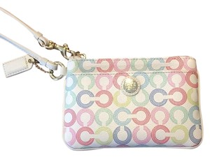 Coach Wristlet in White Multi
