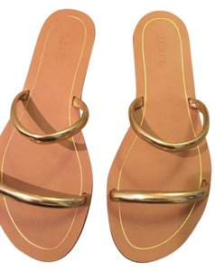 J.Crew Metallic Gold Leather Sandals