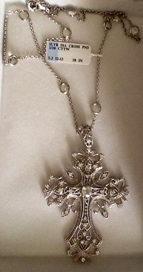Silver Diamond STERLING SILVER & 1/10 CTTW DIAMOND NECKALACE