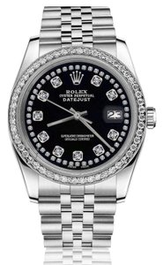 Rolex Rolex 36mm Datejust Baby Blue Mother Of Pearl Dial Emerald Diamond RRT