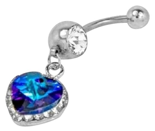 Other Blue Crystal Heart with Swarvoski Crystal Elements Naval Jewelry