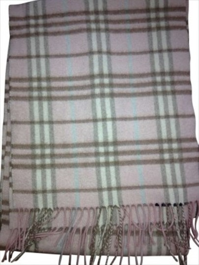 Burberry London Burberry Light Pink Nova Check Cashmere Scarf