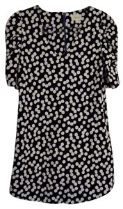 Anthropologie short dress Black/ white Mini Polka Dot on Tradesy