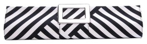 Roger Vivier Black Tube Black, White Clutch