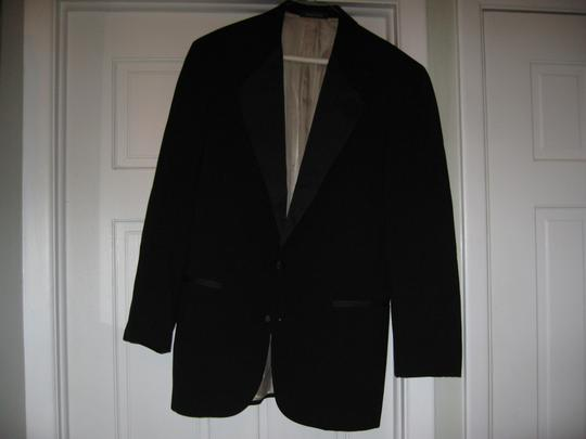 Black Men's 2 Button Notch Coat- Costume Choir Stage - 42l (Mens-2) Tuxedo Image 2