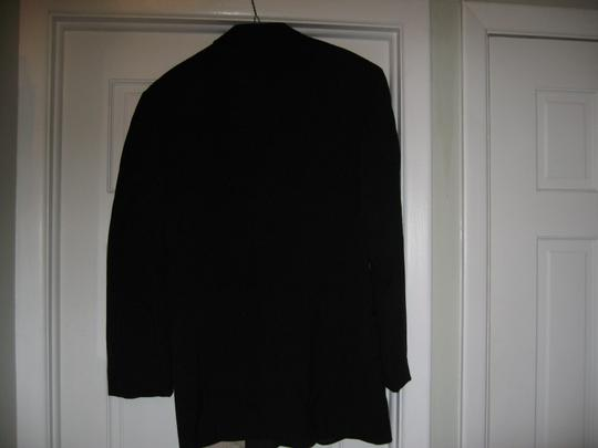 Black Men's 2 Button Notch Coat- Costume Choir Stage - 42l (Mens-2) Tuxedo Image 4