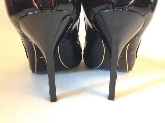 Charles Jourdan Beading Stiletto Strappy Avant Guarde Formal Black Pumps Image 6