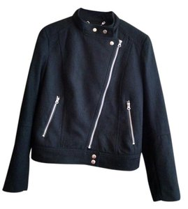 H&M Recycled Wool Zipper Motorcycle Jacket