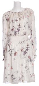 Marchesa Voyage short dress White Floral Print on Tradesy