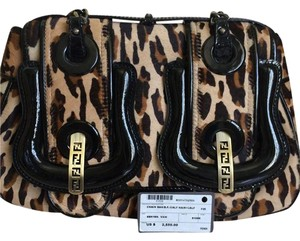 Fendi Calf-hair Patent Leather Leopard Classic Satchel in Leopard/Black