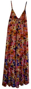 Dallin Chase Floral Maxi Maxi V-cut Neckline Side Zipper Dress