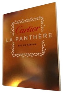 Cartier 4 X CARTIER La Panthere Eau de Parfum EDP Fragrance Sample