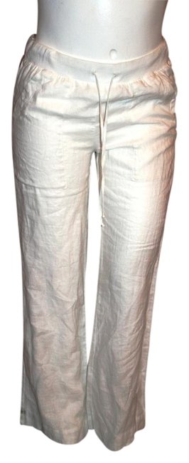 Preload https://img-static.tradesy.com/item/16239970/bella-dahl-bwhite-linen-relaxed-fit-pants-size-8-m-29-30-0-1-650-650.jpg