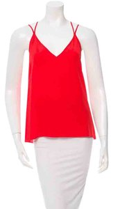Sandro Silk Paris Top Tangerine/Red