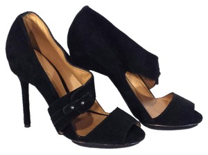 L.A.M.B. Black Suede Pumps