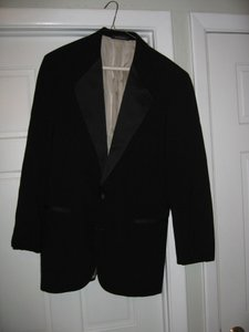Black Men's 2 Button Notch Coat- Costume Choir Stage - 46r (Mens-3) Tuxedo