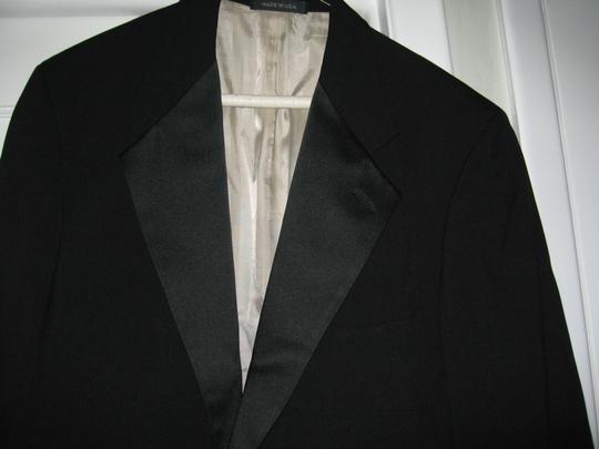 Black Men's 2 Button Notch Coat- Costume Choir Stage - 46r (Mens-3) Tuxedo Image 2