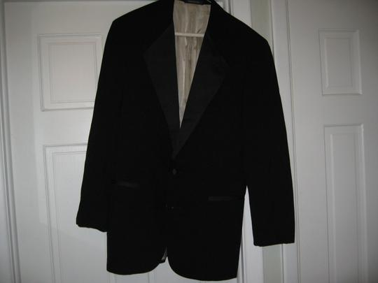 Black Men's 2 Button Notch Coat- Costume Choir Stage - 46r (Mens-3) Tuxedo Image 3