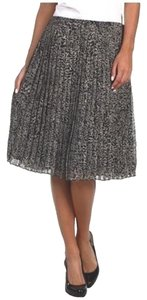 Jones New York Skirt Black White Leopard Print
