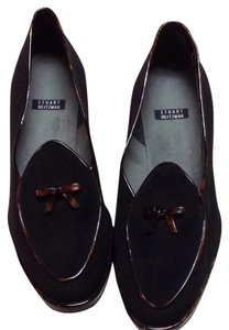 Stuart Weitzman Black Brown Flats