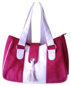 Estée Lauder Suede Summer Cosmetic Weekender Pink Shoulder Bag