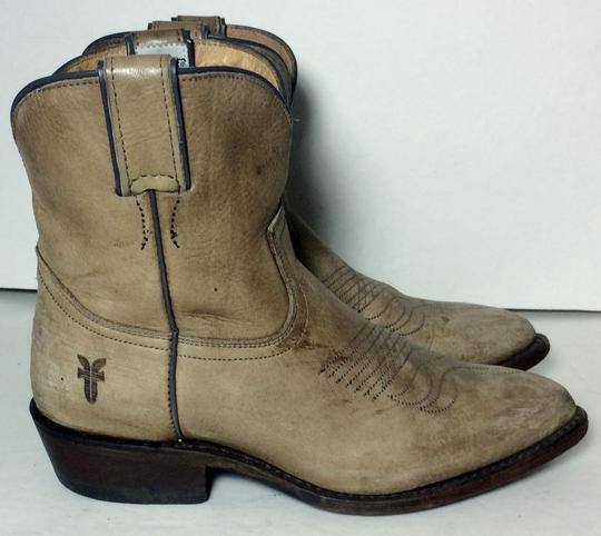 Frye 77815 Billy Cowgirl 7 Size 7 Beige Boots Image 3