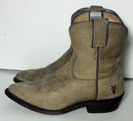 Frye 77815 Billy Cowgirl 7 Size 7 Beige Boots Image 5