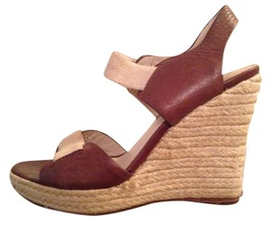 Michael Kors Leather Summer brown/khaki Wedges