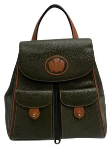 a.testoni Leather Pebbled Backpack