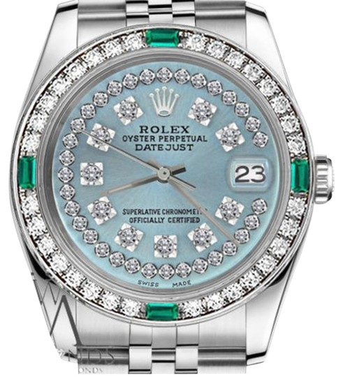 Preload https://img-static.tradesy.com/item/16242052/rolex-women-s-31mm-datejust-ice-blue-string-emerald-diamond-dial-watch-0-1-540-540.jpg