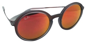 Ray-Ban New Ray-Ban Sunglasses RB 4222 6167/6Q 50-21 Shot Red Rubber Frame w/ Red Mirror Lenses