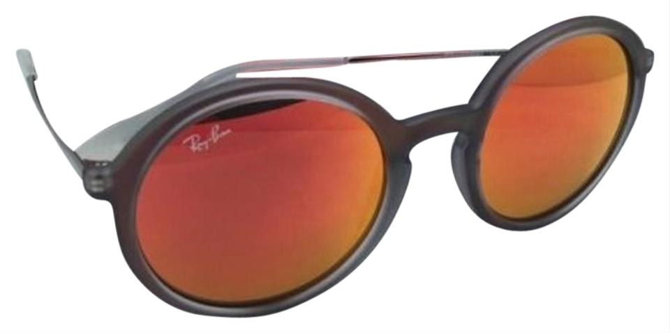 0cca21e5a5 Ray-Ban Rb 4222 6167 6q 50-21 Shot Red Rubber Frame W  Red Mirror ...