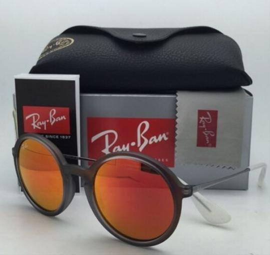 Ray-Ban New Ray-Ban Sunglasses RB 4222 6167/6Q 50-21 Shot Red Rubber Frame w/ Red Mirror Lenses Image 1