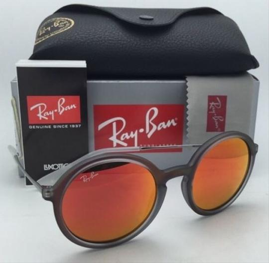 Ray-Ban New Ray-Ban Sunglasses RB 4222 6167/6Q 50-21 Shot Red Rubber Frame w/ Red Mirror Lenses Image 10