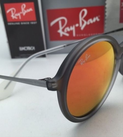 Ray-Ban New Ray-Ban Sunglasses RB 4222 6167/6Q 50-21 Shot Red Rubber Frame w/ Red Mirror Lenses Image 5