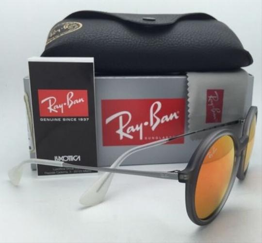 Ray-Ban New Ray-Ban Sunglasses RB 4222 6167/6Q 50-21 Shot Red Rubber Frame w/ Red Mirror Lenses Image 6